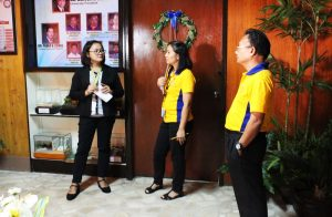 Engineer Marilou Fernandez, Chair of ME Department, confidently answers the queries of an AACUPP accreditor